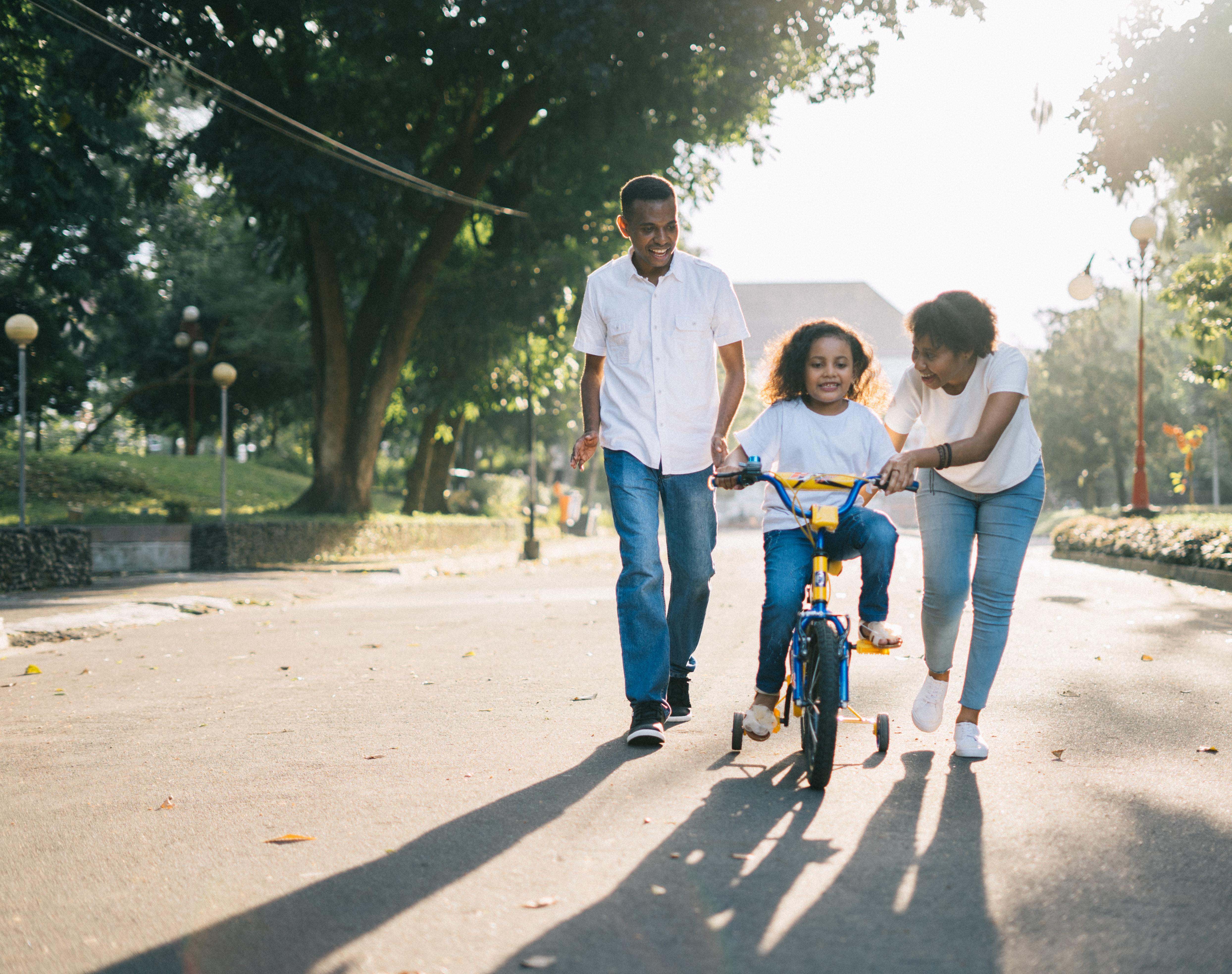 Divorced couple co-parenting a child