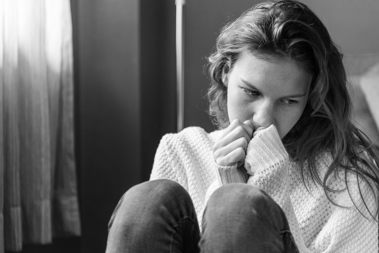 Sad woman going through breakup/divorce