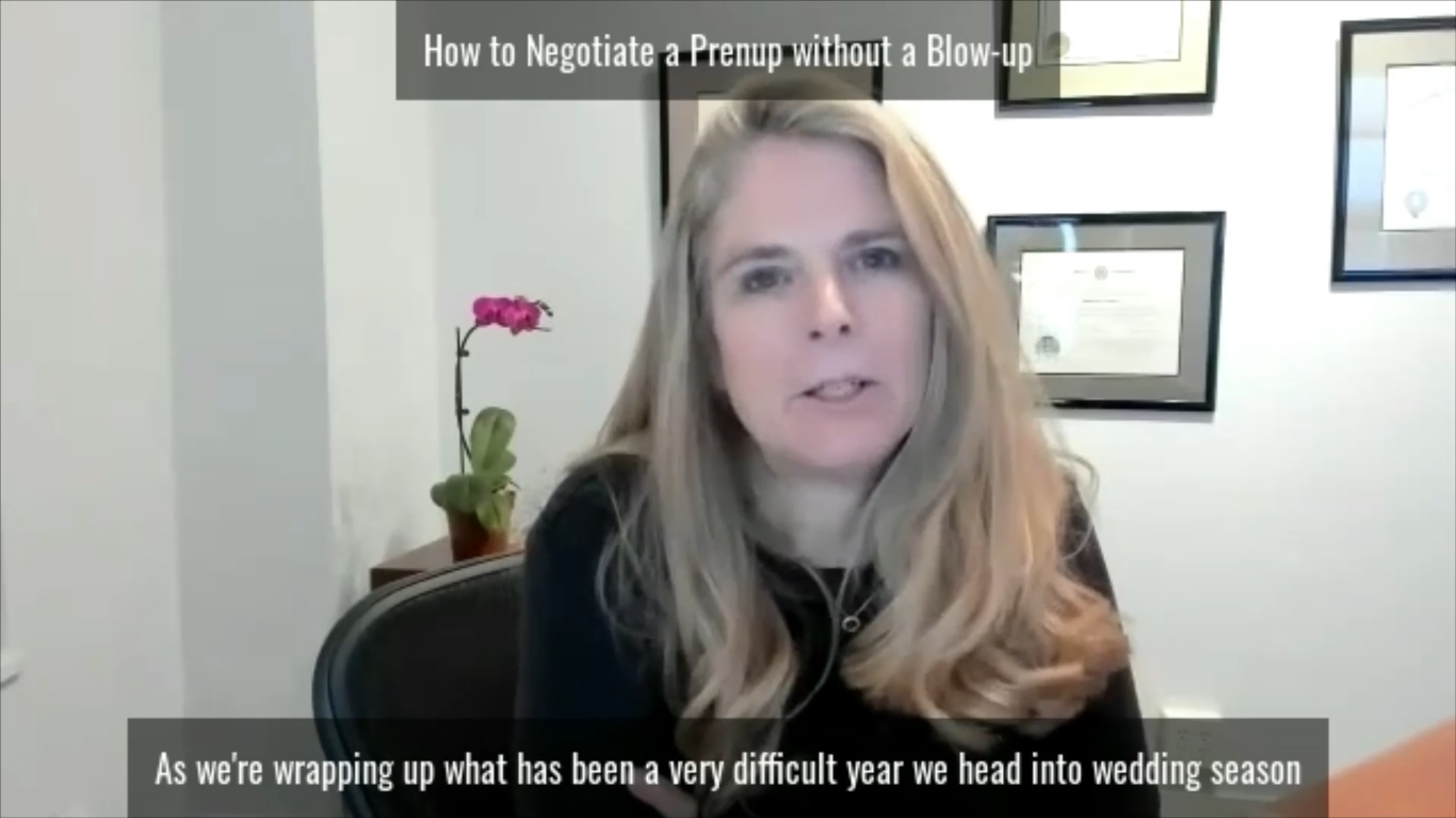 How to Negotiate a Prenup Without a Blowup