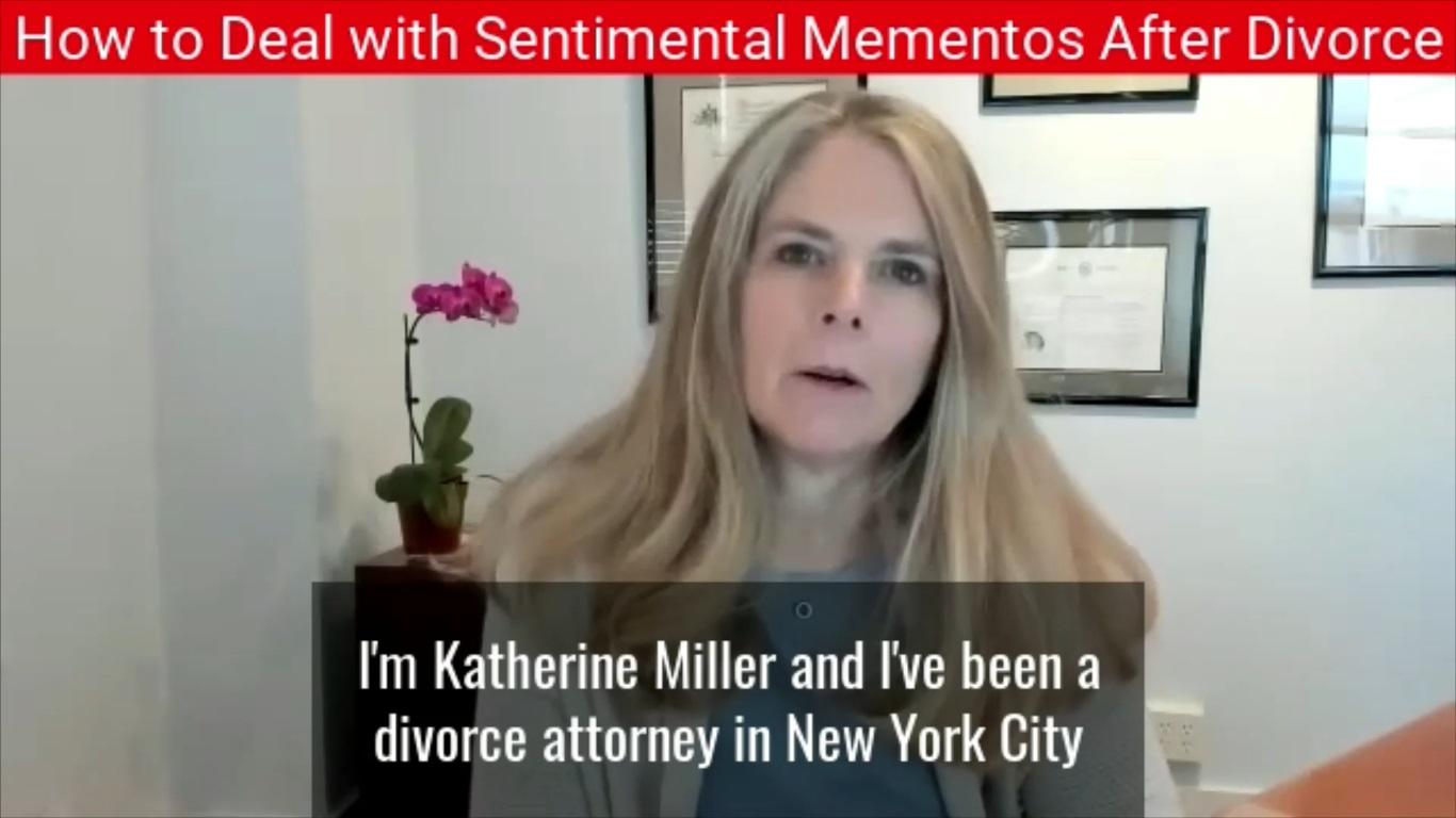 Sentimental Mementos After Divorce