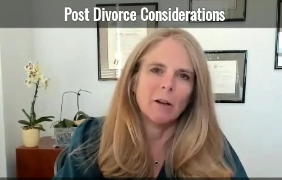 Post Divorce Considerations