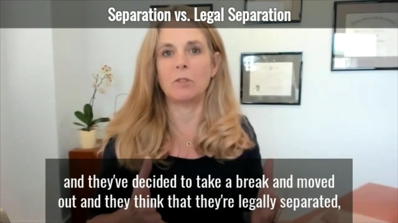 Separation vs. Legal Separation