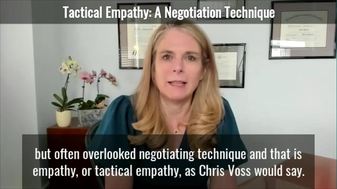 Tactical Empathy