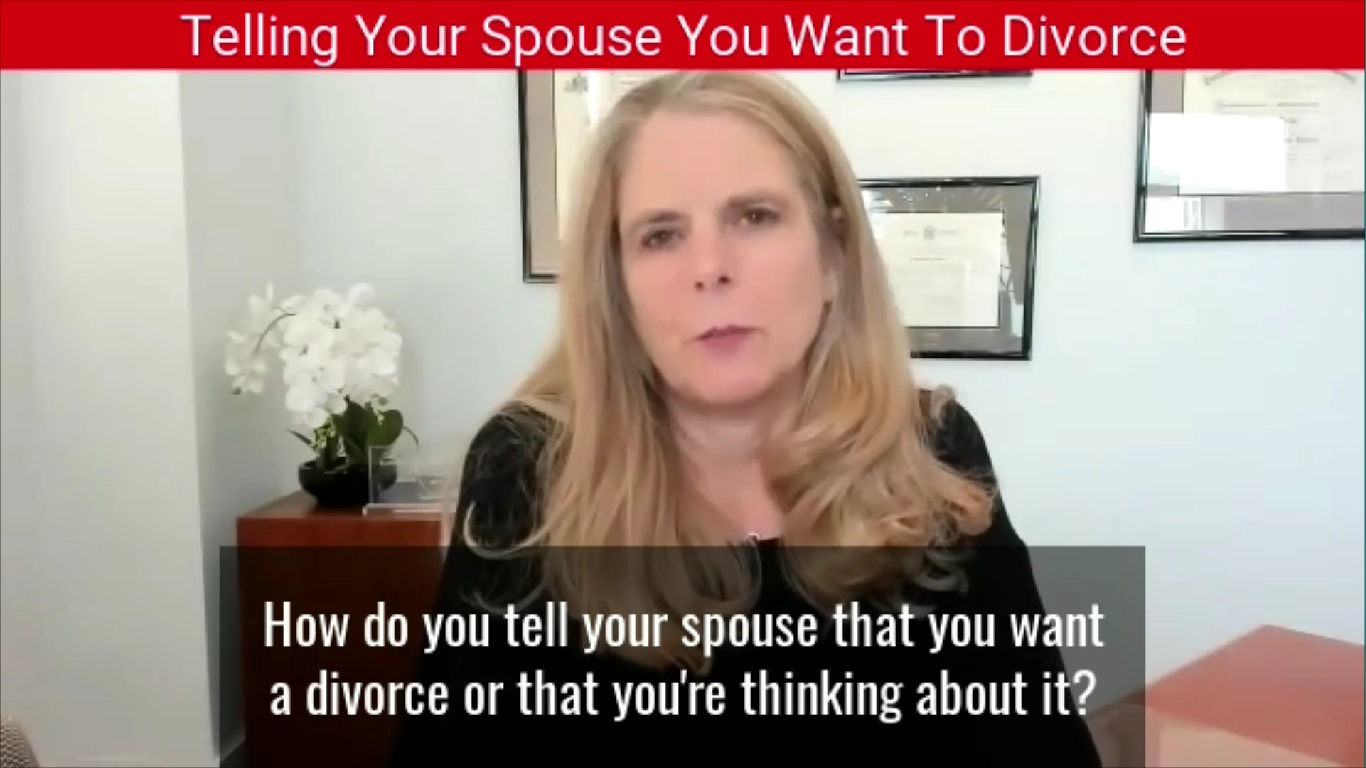 Telling Your Spouse You Want To Divorce