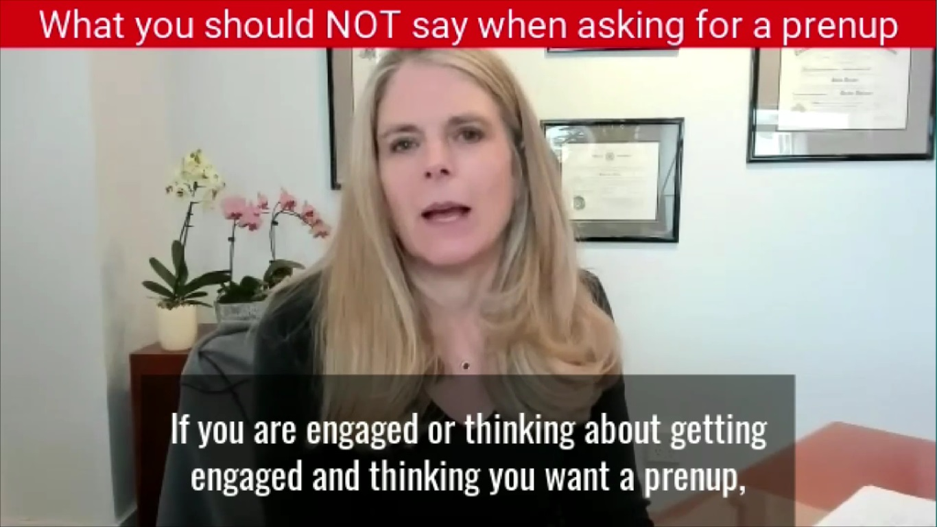 What you should NOT say when asking for a prenup