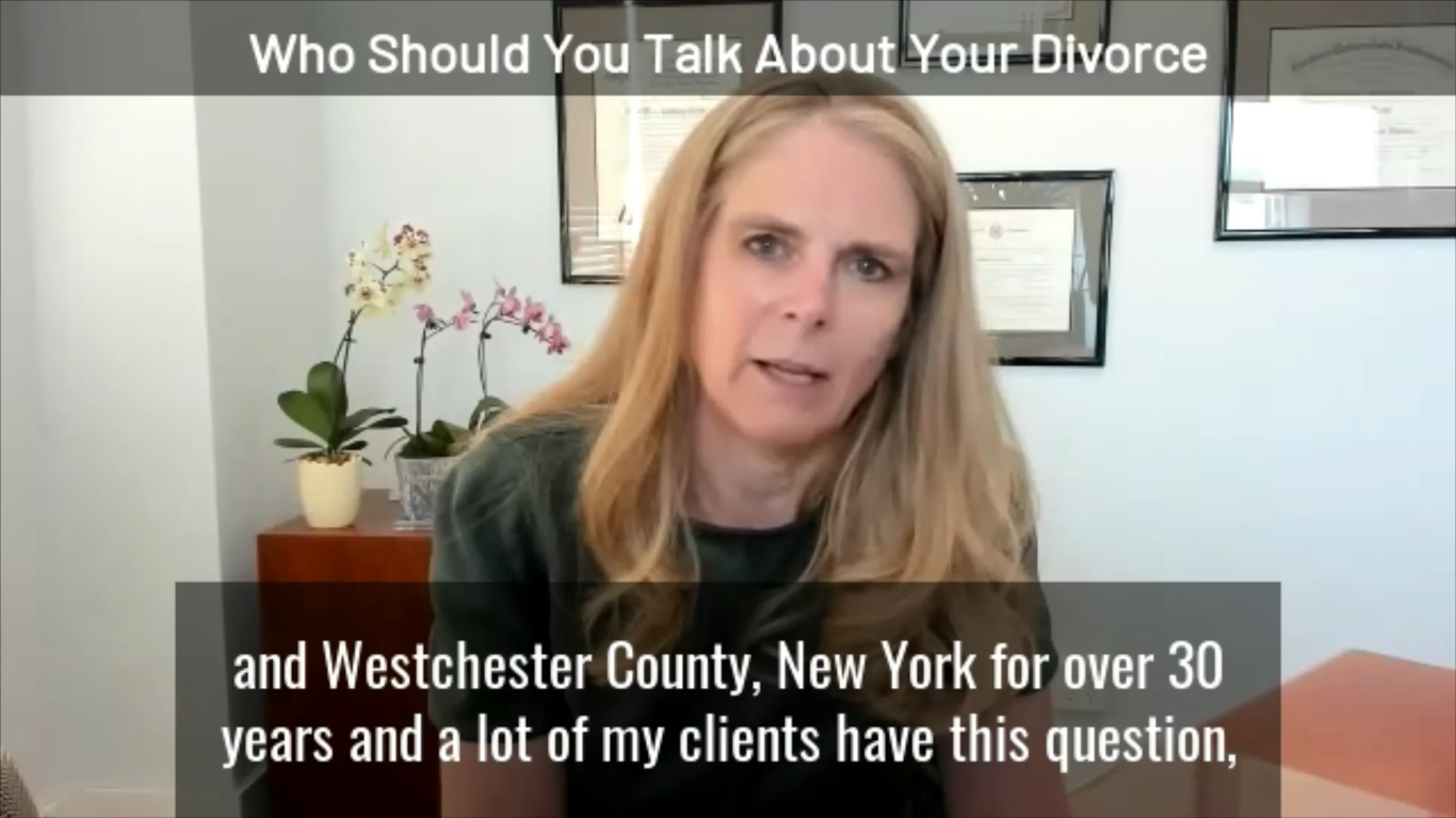 Who should you talk about your divorce